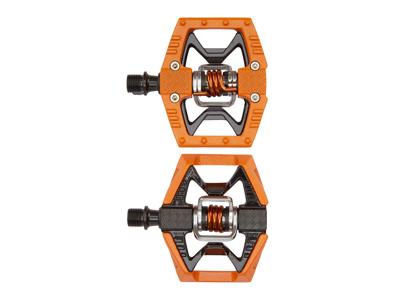Crankbrothers Double Shot - MTB kombipedal - Orange/sort/sølv