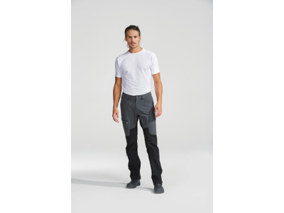 Didriksons Spencer Mens Pants - Softshellbukser Mand - Grå/Sort