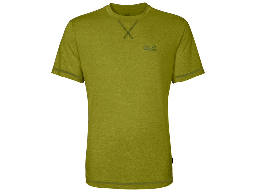 Image of   Jack Wolfskin Crosstrail T - T-Shirt Hr. Str. M - Eucalyptus green