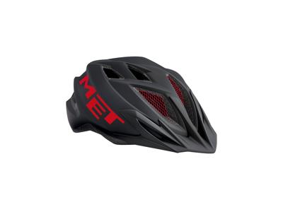 Met Crackerjack - Junior cykelhjelm - Sort/rød - Str. 52-57 cm