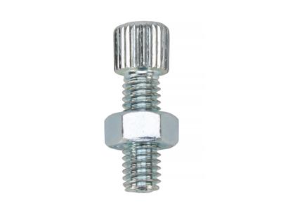 Kabel justerskrue med 6mm gevind - 18mm lang - Stål