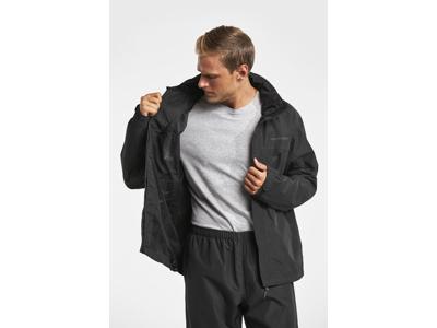 Didriksons Grand Mens Jacket - Herre regnjakke - Sort