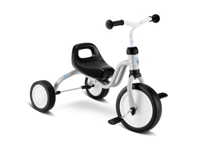 Puky Fitsch - Trehjulet cykel fra 1 1/2  år/80 cm - Lysegrå - Incl. klistermærker