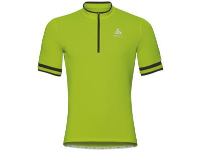 Odlo - Breeze Stand-up collar - Cykeltrøje med korte ærmer - Herre - Neon