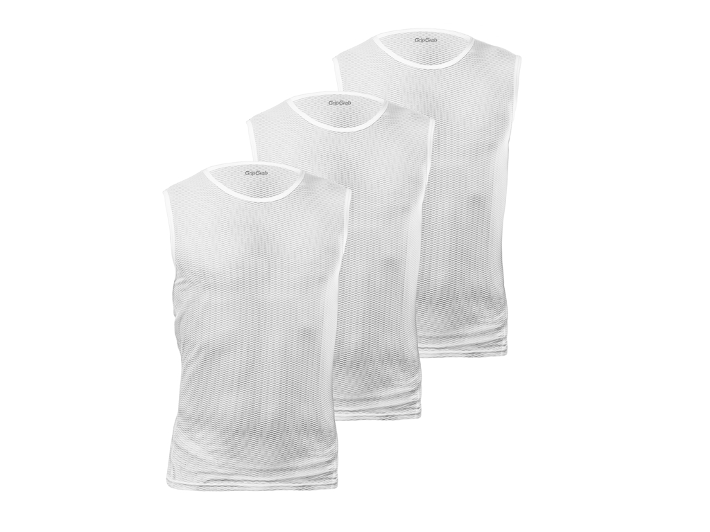 Image of   GripGrab UL SL Mesh Base Layer 3Pack 9013 - Svedundertrøje u. ærme - Hvid - Str. XL