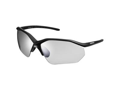 Shimano Cykelbriller - Equinox3 - Fotokromiske mørkgrå linse - Matsort
