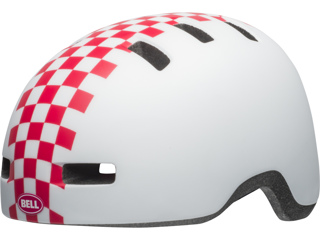 Image of   Bell Lil Ripper - Cykelhjelm - Str. 45-51 cm - Checkers Mat Hvid/Pink