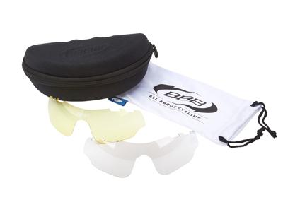 BBB -  Løbe- og cykelbrille Summit - 3 sæt linser - Matsort