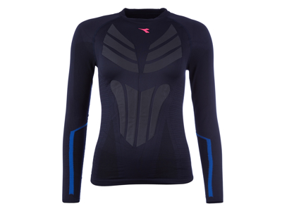 Diadora løbe t-shirt - Dame - L.LS Win-Seamless - Saltire Navy