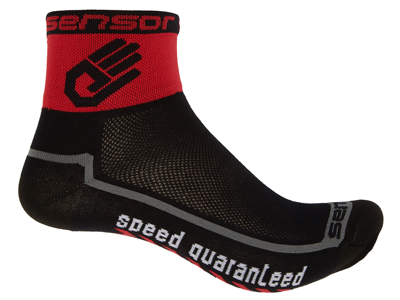 Sensor Race lite - Sykkelsokker - Svart / rød