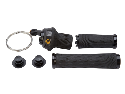 Sram Eagle XX1 -  Grip Shift - 12 gear - Sort/guld