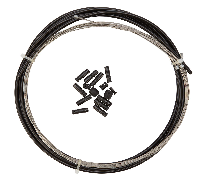 Atredo - Gearkabel - 4 mm - 1700mm/2100mm - Sort - Sæt til for- og bag   Gearkabler og wire