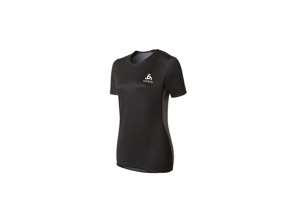Odlo - Shirt s/s crew neck - Vindtæt løbe t-shirt - Dame - Sort/grå - Str. S thumbnail