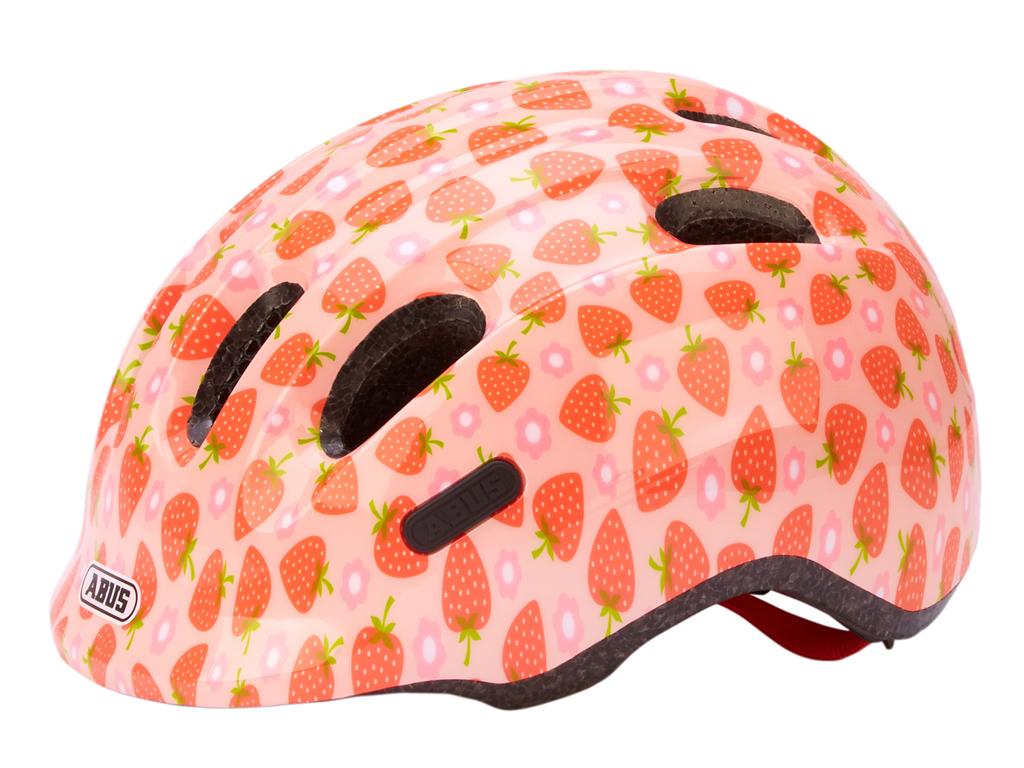 Abus Smiley 2.1 - Børnecykelhjelm - Rosa jordbær - Str. 50-55cm thumbnail