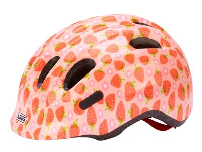 Abus Smiley 2.1 - Børnecykelhjelm - Rosa jordbær