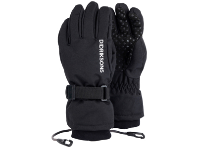 Didriksons Biggles Five Kids Gloves - Handske Barn - Svart