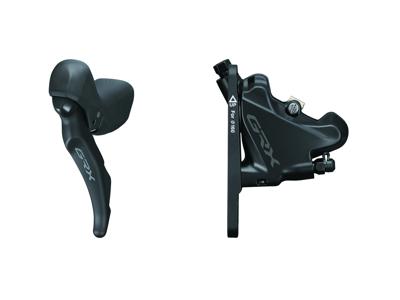 Shimano GRX - STI-greb, bremsekaliber og olieslange - Dobbelt - Hydraulisk - RX600/RX400