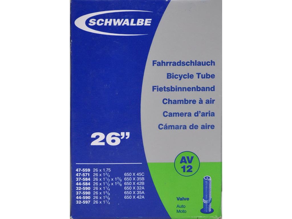Schwalbe slange 26 x 1. 3/8 med Auto ventil AV12 thumbnail