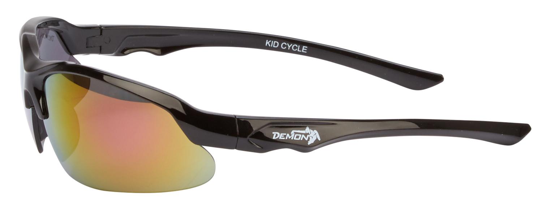 Demon Kid 6 Cycle juniorcykelbrille - Sort - Rødlig røgfarvede linser   Glasses