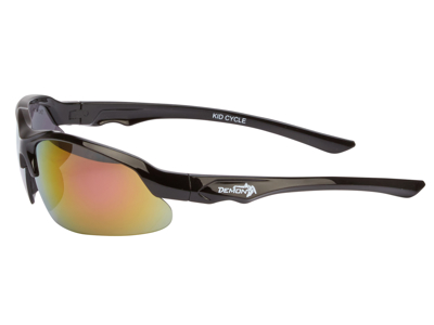 Demon Kid 6 Cycle juniorcykelbrille - Sort - Rødlig røgfarvede linser