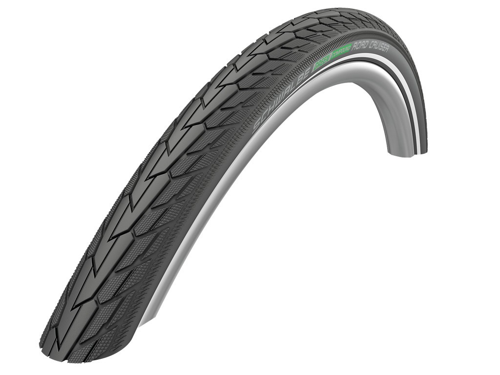 "Image of   Schwalbe Road Cruiser Green Compound - Tråddæk - 28x1 3/8"" (37-622)"