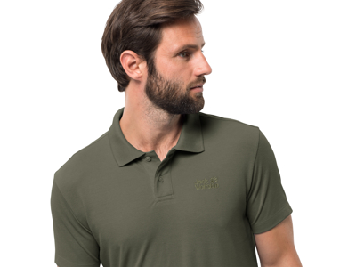 Jack Wolfskin Pique Polo - Men - Army Green