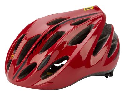 Mavic Aksium - Cykelhjelm - Rød/sort - Str. L