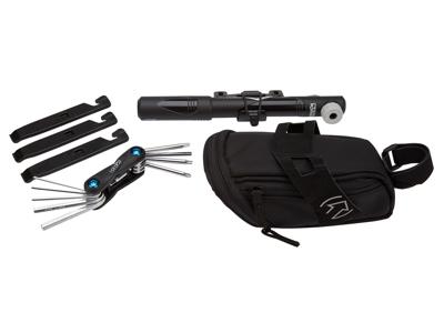 PRO Kombipakke - Sadeltaske med pumpe, miniværktøj og dækjern