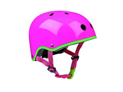 Micro Mini Cykelhjelm - Neon Pink - Skater med hård skal