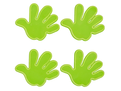 Atredo - Refleksark - Hands - 8 stk. - Gul