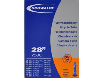 Schwalbe slange 700 x 28-45c med almindelig ventil DV17
