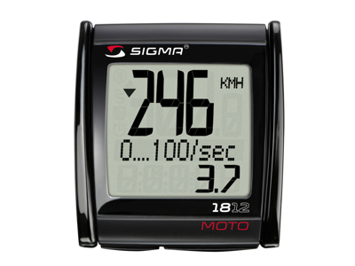 Sigma MC 18.12 - Motorcykelcomputer med ledning - 18 funktioner - Måler op til 399 Km/t.