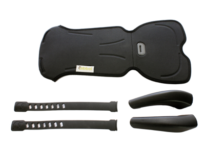 Styling sæt Qibbel Deluxe til front stol - Sort