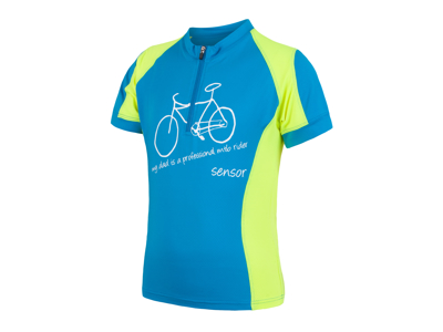 Sensor Cyklo Entry - Cykeltrøje med korte ærmer til børn - Blå/grøn