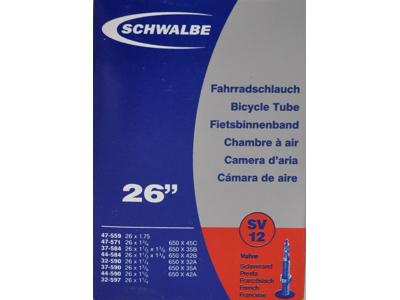 Schwalbe slange 26 x 1. 3/8 med Racer ventil SV12