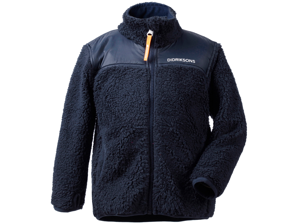 Image of   Didriksons Geite Kids Pile Jacket - Fleecejakke Børn - Navy - Str. 100