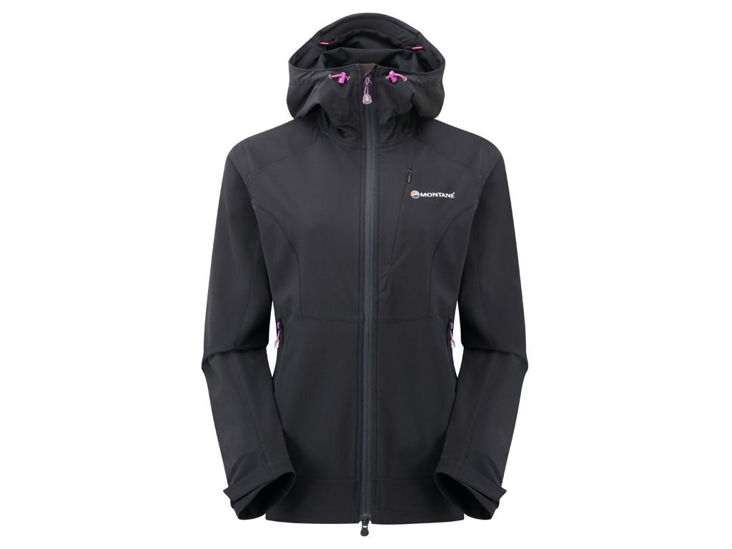 Montane Womens Dyno Stretch Jacket - Softshell Dame - Sort - 38 thumbnail
