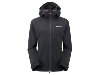 Montane Womens Dyno Stretch Jacket - Softshell Dame - Sort