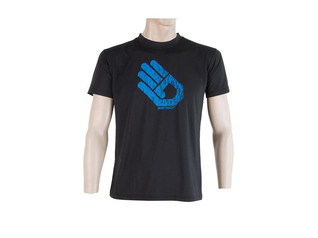 Sensor Coolmax Fresh PT Hand - T-shirt med korte ærmer - Sort - Str. XXL thumbnail