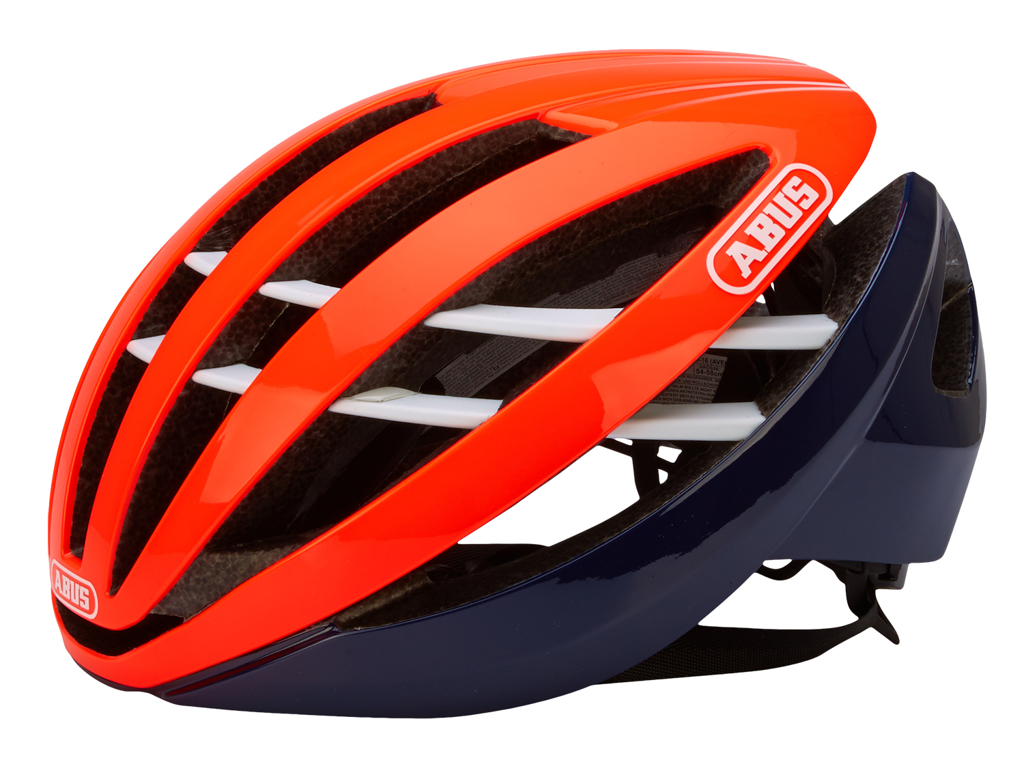 Image of   Abus Aventor - Cykelhjelm - Orange/sort - Str. 57-62cm