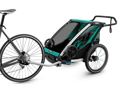 Thule Chariot Lite 2 - Multisportkärra till 2 barn - Svart/Grön