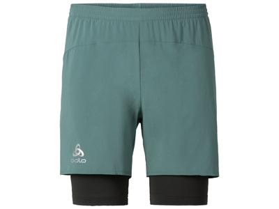 Odlo herre løbeshorts - Kanon - Meleret armygrøn og mørkegrå