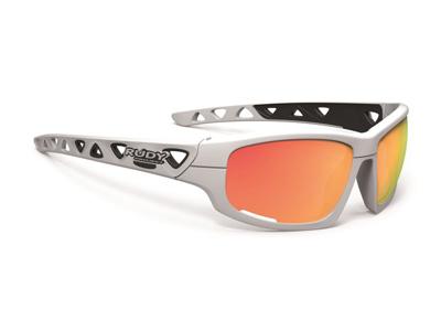 Rudy Project Airgrip - Cykel- og Fritidsbrille - Hvid med orange glas