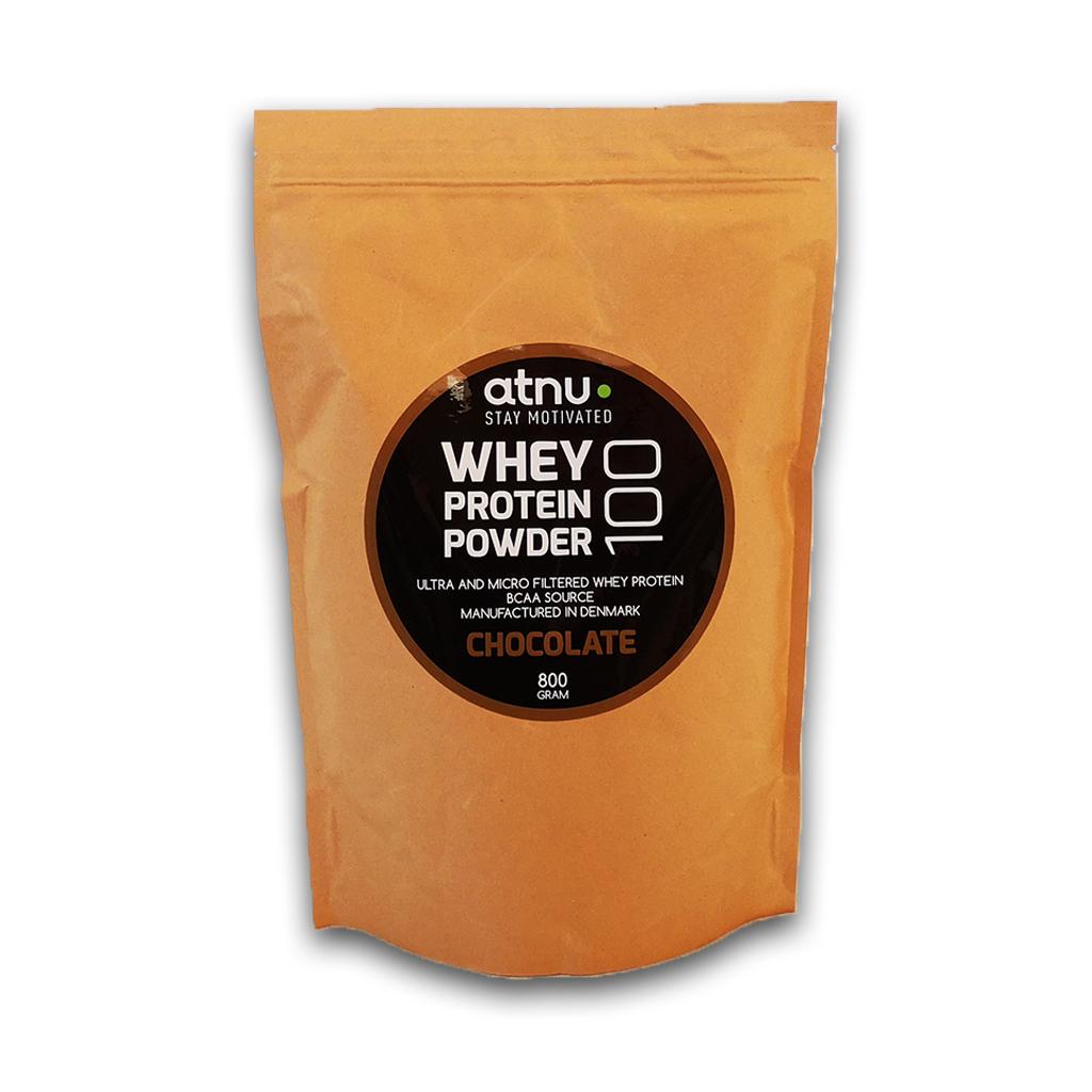 Atnu Proteinpulver - Chokolade - 800 gram | Protein bar and powder