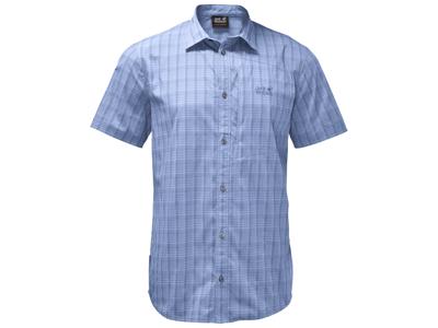 Jack Wolfskin Rays Stretch Vent Skjorte - Herre - Lyseblå