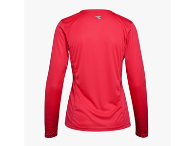 Diadora L. X-Run LS T-Shirt - Lange ærmer t-shirt - Dame - Rød