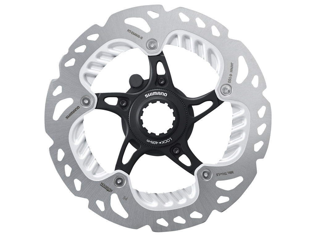 Image of   Shimano Ice-Tech RT-EM900 - Rotor 203 mm med Ice-Technologi og Freeza - Til Center lock
