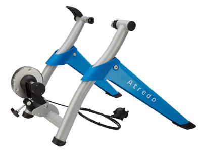 Atredo - Q7 Cykeltrainer - Justerbar - 7 steg - Stål - Blå/Silver - 800 Watt