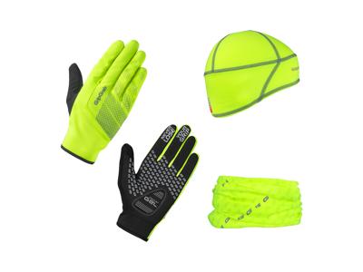 GripGrab Hi-Vis Gaveæske - Handsker, hue og halsedisse - Hi-Vis gul