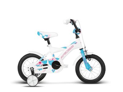 "Kross Cindy - Børnecykel - 12"" - Hvid/blå/pink"